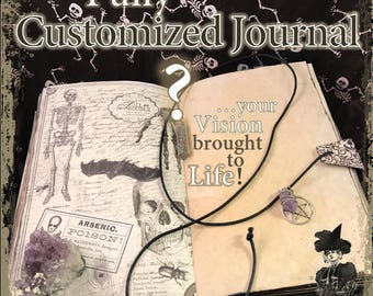 Illustrated Book of Shadows, Grimoire, Journal, Diary, Notebook, Sketchbook - Fully customizable!