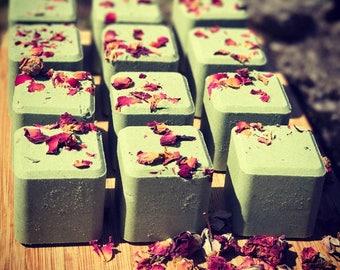 Cannabis Rose 4 oz All Natural Handmade Bath Fizzie with Shea Butter