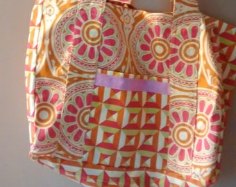 Large reversible tote bag