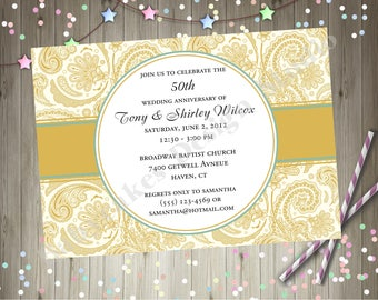 50th Anniversary Invitation Golden Anniversary Party Invitation Invite Surprise 50th Wedding Anniversary Party Printable Invitation