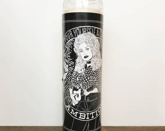 Dolly Parton Ambition // 7 Day Altar Candle, Saint Candle