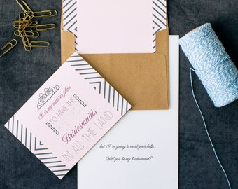 Prettiest Bridesmaid Invitations | Cute Bridesmaid | How to a Ask Bridesmaid | Funny Will You Be My Junior Bridesmaid | Will You Be My Card
