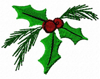 Holly Machine Embroidery Design ~ Instant Download