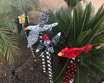 Outdoor Whirly Birds and Bumble Bees