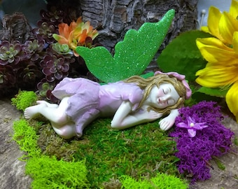 Dreaming Fairy for Fairy Garden Miniature Figurine