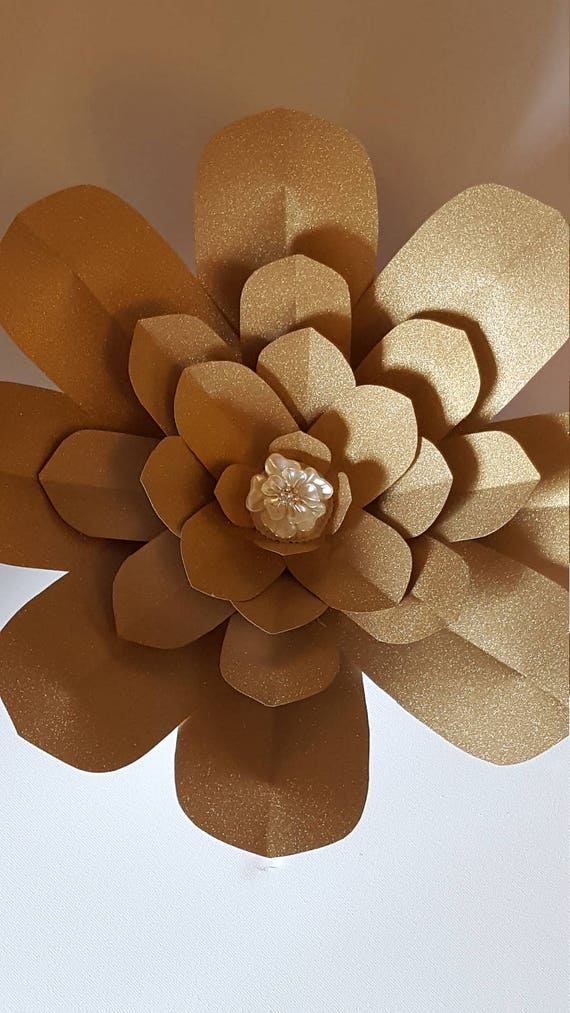 paper flower template and base pdf digital 10