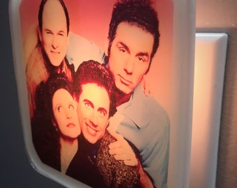 Seinfeld Night Light Retro 90s TV Funny Pop Culture Jerry George Costanza Kramer Funny Gift  Elaine Benes Plug In Nightlight Home Decor