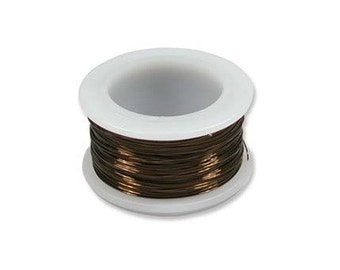 Vintage Bronze Color Wire Beadsmith 28 gauge 40yd Spool 41658 , Beadsmith Wire, Round Jewelry Wire, Vintage Bronze Craft Wire, 28 Gauge Wire