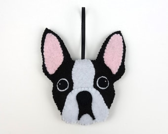 Felt Dog Ornament - Boston Terrier