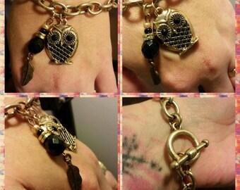 Owl dangle bracelet