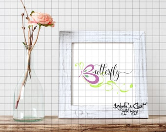 Butterfly SVG Vector Printable Cutable