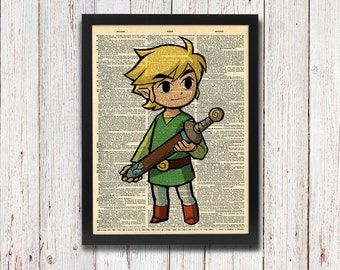 Legend of Zelda Link Toon Link Dictionary Art
