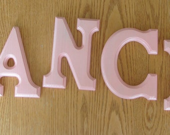 "Handpainted 6"" wooden letters....DANCE"