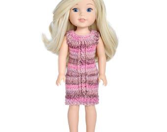 """Download Now - CROCHET PATTERN 14-14.5"""" Doll Emry Dress Crochet Pattern"""