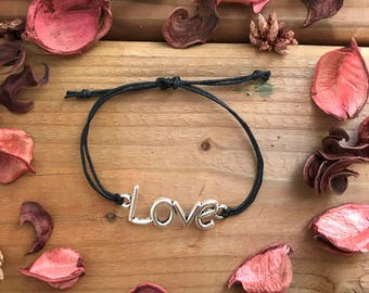 Cotton bracelet (love, simply ) handmade in Quebec