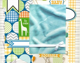 Sweet Baby - 12x12 Premade Baby Scrapbook Page