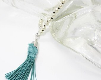 Hand Knotted Glass Pearl Tassel Bracelet - Prima Donna Beads