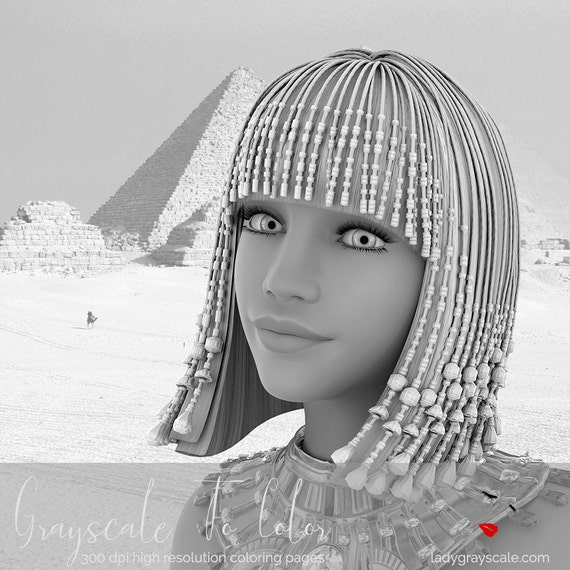 Egyptian Grayscale Coloring Page Greyscale For