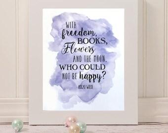 Oscar Wilde Quote, Digital Download, 8 x 10 Print, Motivational Quote Print, Typography Print, Typography Art, Life Quotes, DIY Wall Print