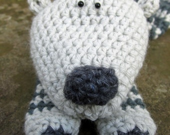 Crochet Pattern for Polomint | A Supersoft Polar Bear Scarf!