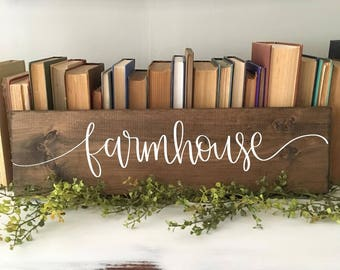 Farmhouse - Wood Sign
