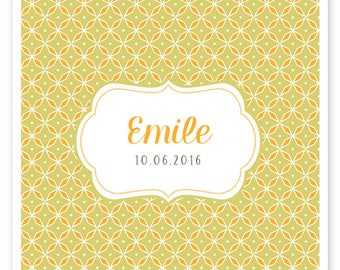 Emile, vintage and modern to be personalized birth announcement