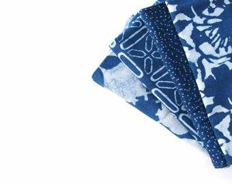 blue NAPKINS navy indigo mix and match napkin set organic cotton table linen block print dining table cloth napkins Set of 4 - Mix and Match