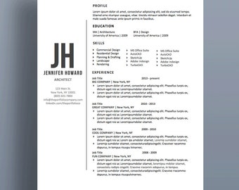 "Modern and Professional Resume Template | CV + Cover Letter | Creative Resume Designs | Mac or PC | Instant Download (""Echo"")"