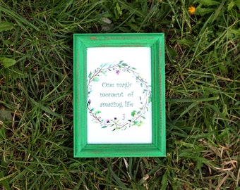 Emerald Frame - Wedding Frames, Shabby Chic Rustic Picture Frames