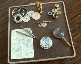 12th scale Steampunk Watchmaker's Tray