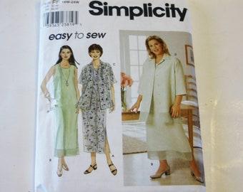 Simplicity 9135: Women's Dress and Jacket- Sizes 18W-24W UNCUT