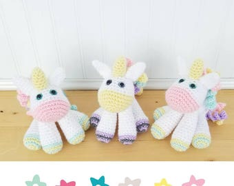 Crochet Unicorn Plush - Small Unicorn Toy - Toddler Toy - Stuffed Animal - Baby Shower Gift - Toddler Gift - Gifts Under 30 - Birthday Gift