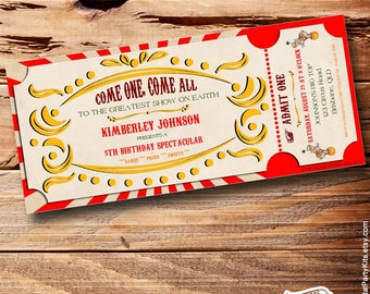 Greatest invite etsy vintage circus ticket invitation carnival invitation editable printable do it yourself solutioingenieria Choice Image