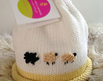 Baa Baa Black Sheep Colorful Crown Baby Hat