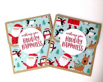 Holiday Gift Card Holder - Christmas Gift Card Holder - Gift Under 5 Dollars - Christmas Giftcard Holder - Teacher Aide Christmas Gift