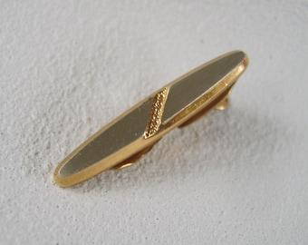 Vintage Hickok Tie Clip Gold & Silver Finish Mid Century