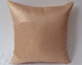 Rose gold pillow, rose gold decorative throw pillow, metallic cushion case, wedding decor. available 12,14,16 and 18 inches