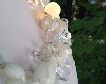 Multi strand statement necklace