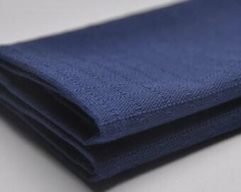 Pocket Square in Navy Blue. Linen Handkerchief. Blue Hanky. Pocket Square for Man