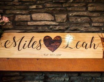 Name Wood Burned Sign- Pallet Wood Sign
