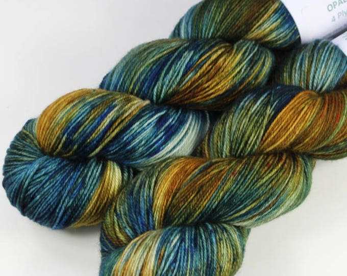 Hand dyed yarn. 100g Merino fingering weight (4 ply). Opal #1713.