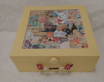 Vintage Wooden Keepsake Box