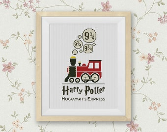 BOGO FREE! Hogwarts Express Cross Stitch Pattern, Platform 9 3/4 Counted Cross Stitch Chart, Harry Potter Movie, PDF Instant Download #016-4