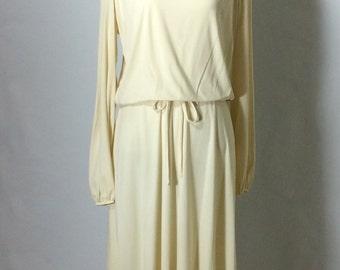 Soft 1970's Secretary Dress/Day Dress/Lounge Dress