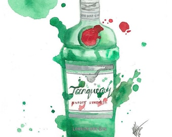 items similar to upcycled recycled eco friendly tanqueray gin glass