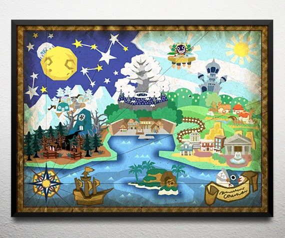 Paper mario the thousand year door map poster gumiabroncs Gallery