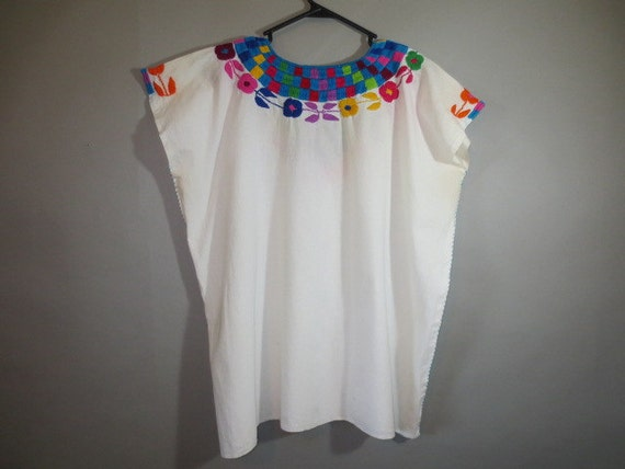 Mexican Embroidered Muslin Top // Bright Fiesta Shirt ...25