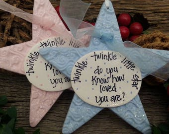 Twinkle twinkle little star, baby or girls room accent ornament, baby shower gift, baby gift