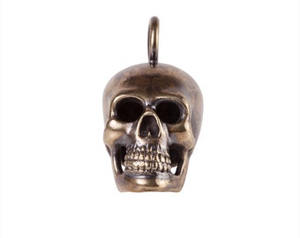 Big Brass Skull Pendant