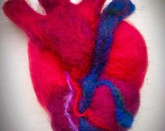 Needle Felt Anatomical heart